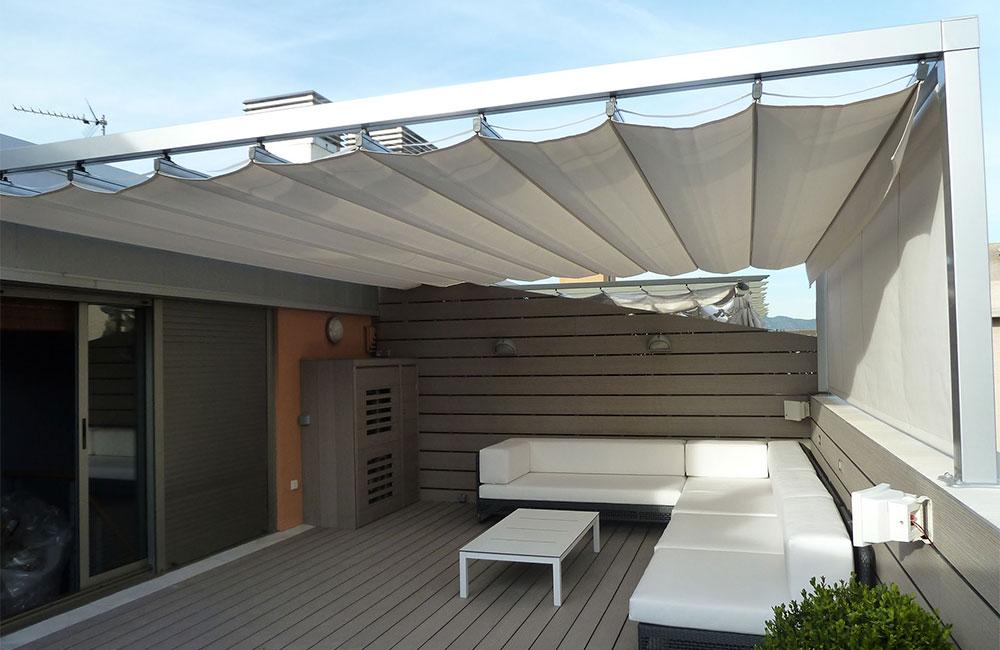 P rgolas de aluminiop rgolas de aluminio for Repuestos para toldos de terraza