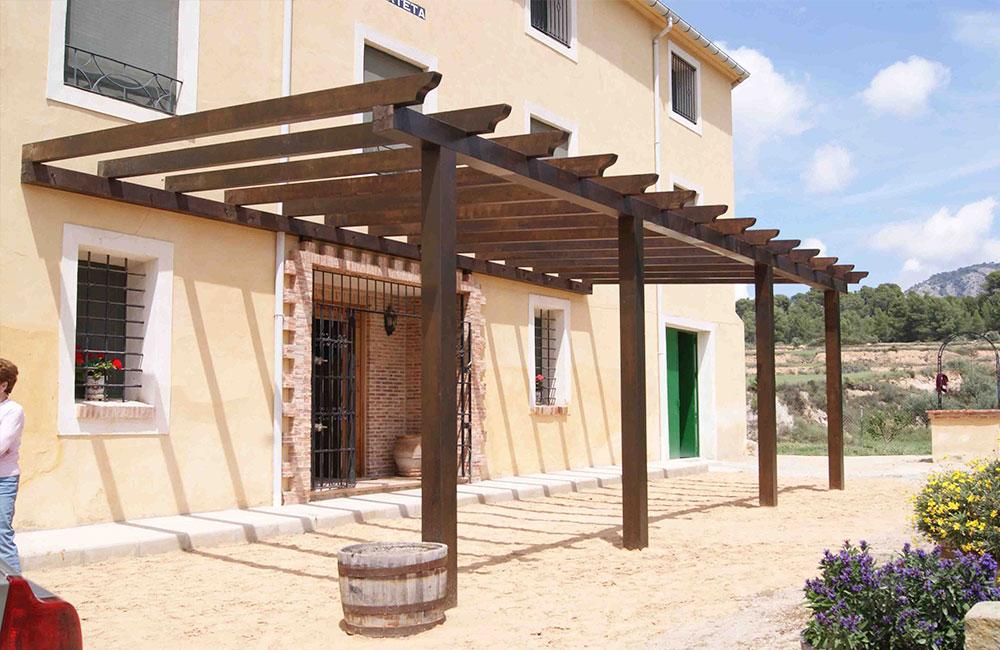 P rgolas de madera p rgolas de aluminiop rgolas de aluminio for Pergolas de madera bricor